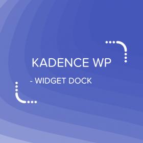 Kadence Widget Dock