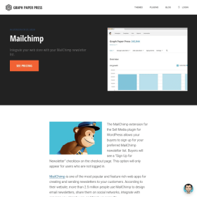 Graph Paper Press Sell Media MailChimp Add-On