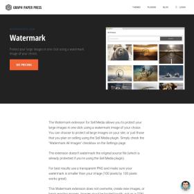 Graph Paper Press Sell Media Watermark Add-On