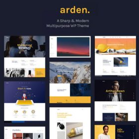 Arden – A Sharp & Modern Multipurpose WordPress Theme