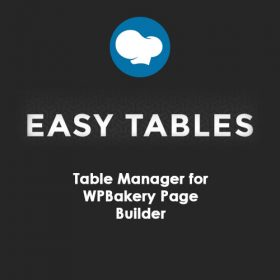 Easy Tables – Table Manager for WPBakery Page Builder
