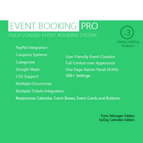 Event Booking Pro – WP Plugin [paypal or offline]