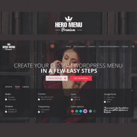 Hero Menu – Responsive WordPress Mega Menu Plugin