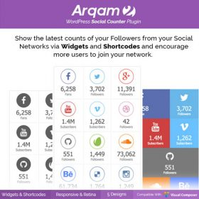 Social Counter Plugin for WordPress – Arqam
