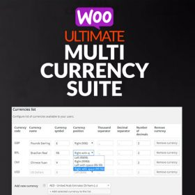 WooCommerce Ultimate Multi Currency Suite