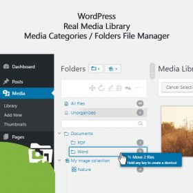 WordPress Real Media Library – Media Categories / Folders File Manager