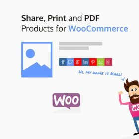 Share, Print and PDF Products for WooCommerce