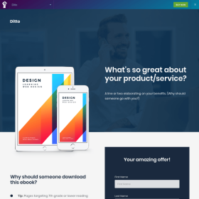 Elementorism Ditto Elementor Landing Page