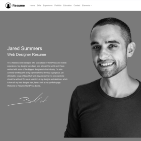 VisualModo - Resume WordPress Theme