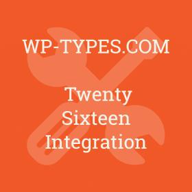 Toolset Twenty Sixteen Integration Addon