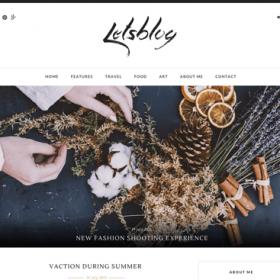 Lets Blog - WordPress Theme