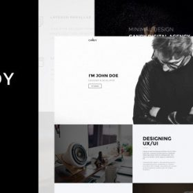 Candy - One & Multi Page WP Theme