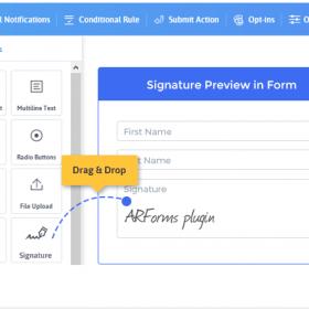 ARForms – Signature Addon