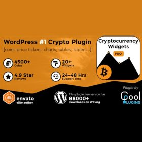 Cryptocurrency Widgets Pro – WordPress Crypto Plugin 2.6.1