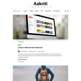 WP OnlineSupport – Aakriti Personal Blog Pro