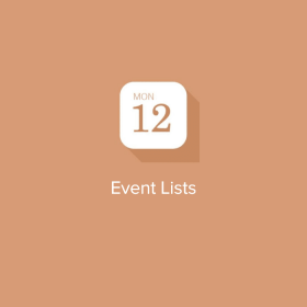 EventOn – Event Lists Extension 0.21