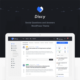 Discy – Social Questions and Answers WordPress Theme 4.4.2